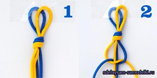 Как сделать браслет из ниток и гаек