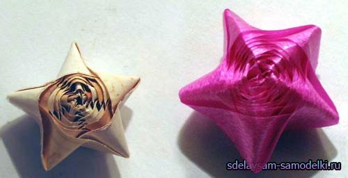 Маленькие красивые звездочки из бумаги