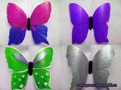 Бабочки для поделок из бутылок 74