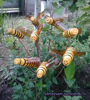как сделать пчел из пластиковых бутылок пошаговая инструкция