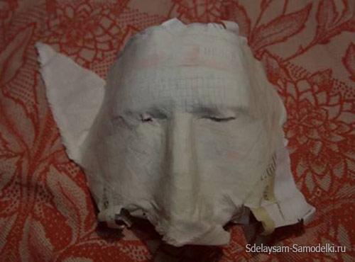 Маска из бумаги - Папье маше