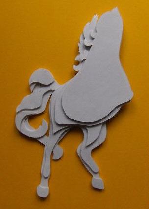 сказочный 3D конь из картона