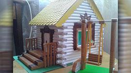 Деревянный дом из обычной бумаги